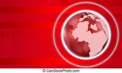 Red 3d Globe Spinning