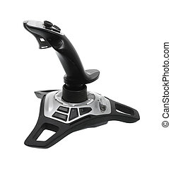Joystick on White Background
