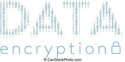 Digital Data Encryption Security Code - Binary Digital Data...