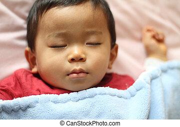 Sleeping boy (Japanese 1 year old)