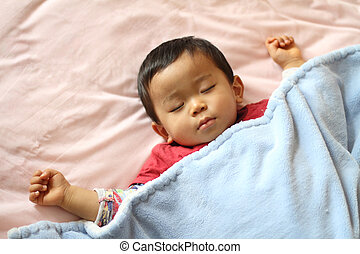 Sleeping boy (Japanese 1 year old)