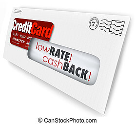 Credit Card Offer Letter Envelope Solicitation Low Rate Cash...