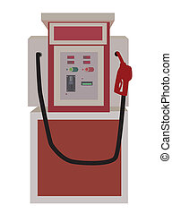 Gasoline Vending Machine - Vector illustration of gasoline...
