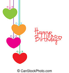 Happy birthday - abstract happy birthday background with...