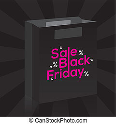 Black Friday - abstract black friday object on a special...
