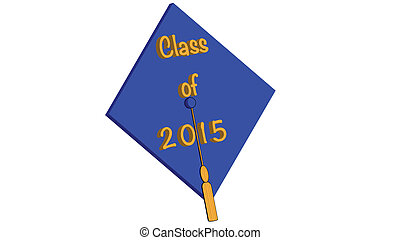Class of 2015 blue - Class of 2015 mortarboard