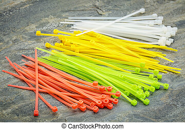 plastic zip cable ties - self-locked plastic zip cable ties...