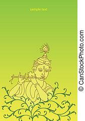 Calligraphic, senhor, krishna