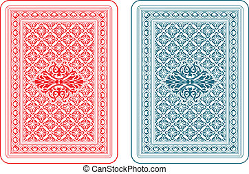 Playing cards back delta - Playing cards back two colors