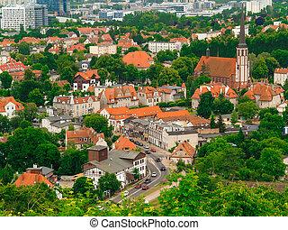 miejski, antena, Zabudowanie, okręg, wieża, Gdańsk, Prospekt...