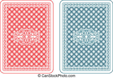 Playing cards back zeta