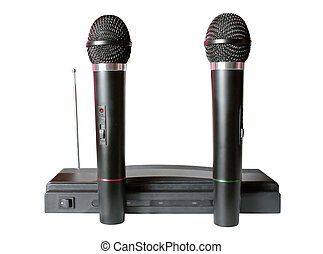 Microphones - Wireless microphones An isolated object on a...