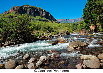 Mountain river - River in the foothills of the Drakensberg...