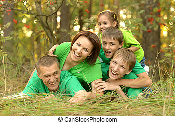 Family in green jersey - Family in the green jersey is...