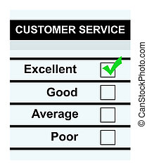 Excellent customer service - Customer service questionaire...