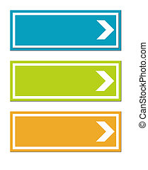 Colorful road signs - Three colorful road signs with...