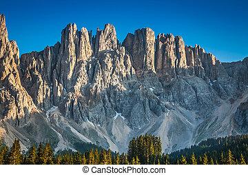 Peak of latemar in South Tyrol,Dolomite, Italy