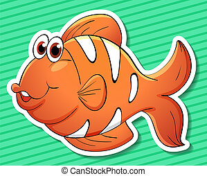 Clownfish - Illustration of a clowfish with background