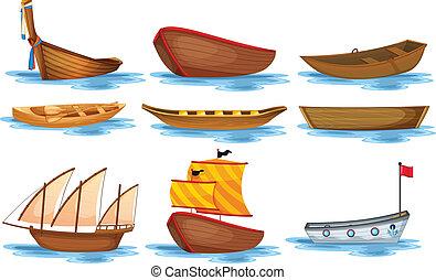 Boat set - Illustration of different kind of boats
