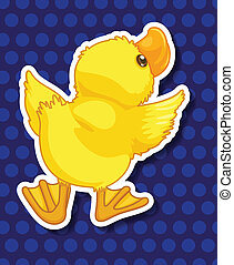Duckling - Illustration of a single duckling with polkadot...
