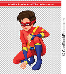 Superhero - Illustration of a male superhero