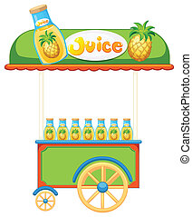 Food vendor - Illustration of a food vendor selling juice