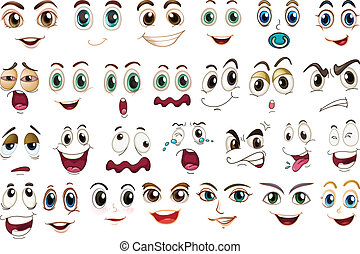 facial, expressões