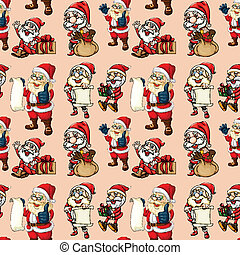 Seamless santa clause - Illustration of a seamless santa...