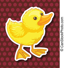 Duckling - Illustration of a closeup duckling with polkadot...
