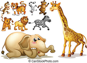 Animals set - Illustration of a set of many animals