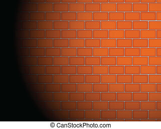 Brick wall - Illustration of a brick wall with spotlight