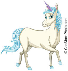 Unicorn - Illustration of a white unicorn