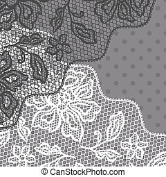 Vintage fashion lace ornament background with flowers