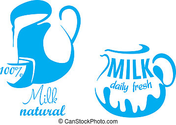 Jugs with natural milk