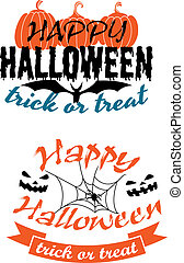 Halloween holiday party banners - Happy Halloween holiday...