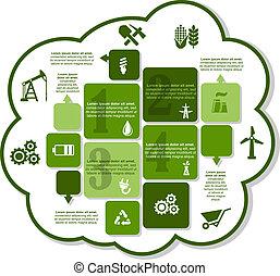 Industrial infographics design