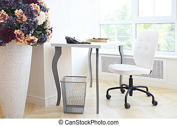 Modern interior of home office