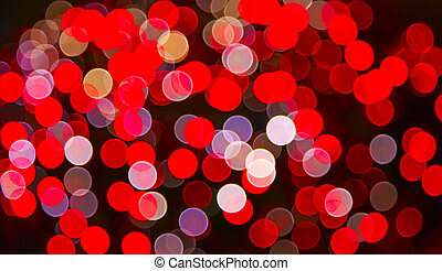 Defocused ligths of Christmas tree