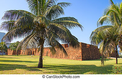 Fort in Maputo, Mozambique - Old portugese fort in Maputo,...