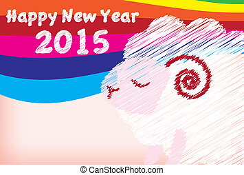 Newyear - It is an illustration of New Years postcard of...