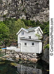 Building in Geiranger in Norway.