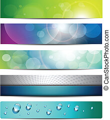 Banners, headers, vector internet backgrounds