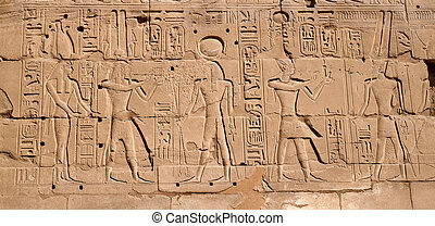Egyptian hieroglyphs - Egyptian antique hieroglyphs from...