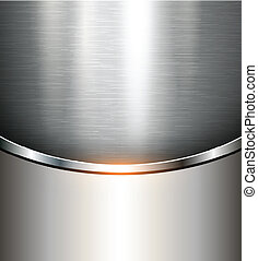 Metallic background polished steel texture, vector.