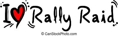 Rally raid love - Creative design of rally raid love