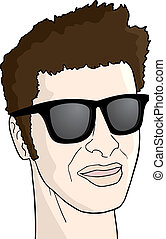 sunglasses man - Creative design of sunglasses man