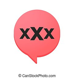 comic balloon with a triple x sign - illustration of an...