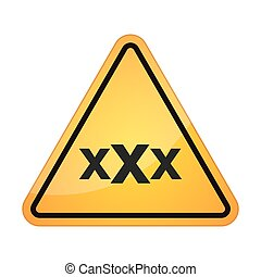 danger signal with a triple x sign - illustration of an...