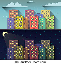 Day and night city