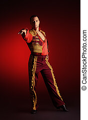 salsa dance - Portrait of a handsome man latino dancer